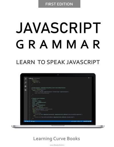 کتاب JavaScript Grammar: Learn to Speak Javascript