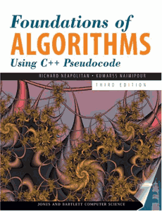 Foundations of Algorithms 3rd Edition