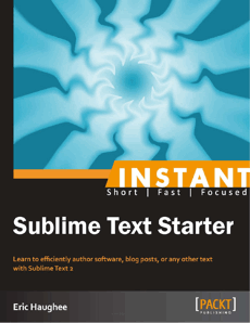 Instant Sublime Text Starter